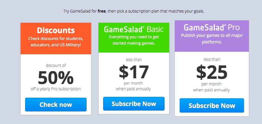 gamesalad(ゲームサラダ)に必要な環境と料金について